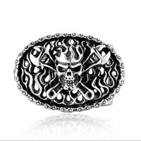 Retail Fashion Men S High Quality Oval 3D Wrench Skull 316L Titanium Steel Belt Buckle With