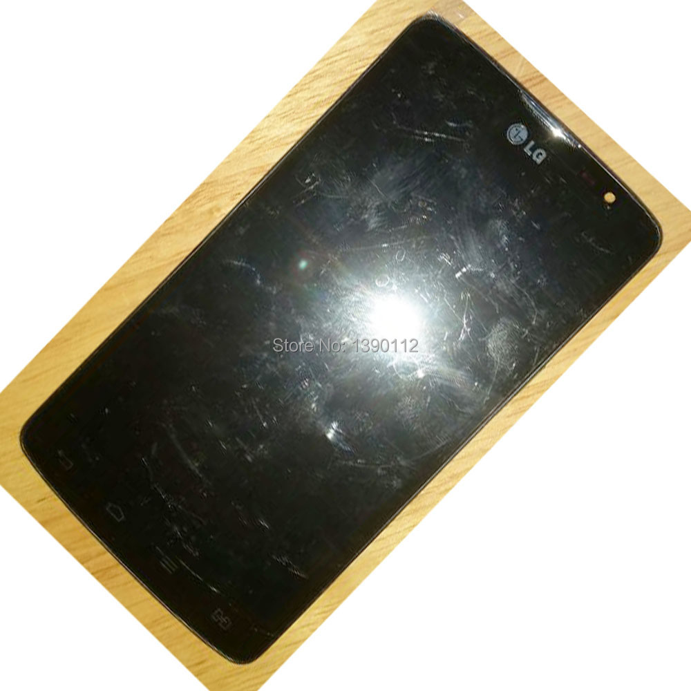 ФОТО Original LCD Digitizer Touch Screen Assembly with Frame For LG L80 Black