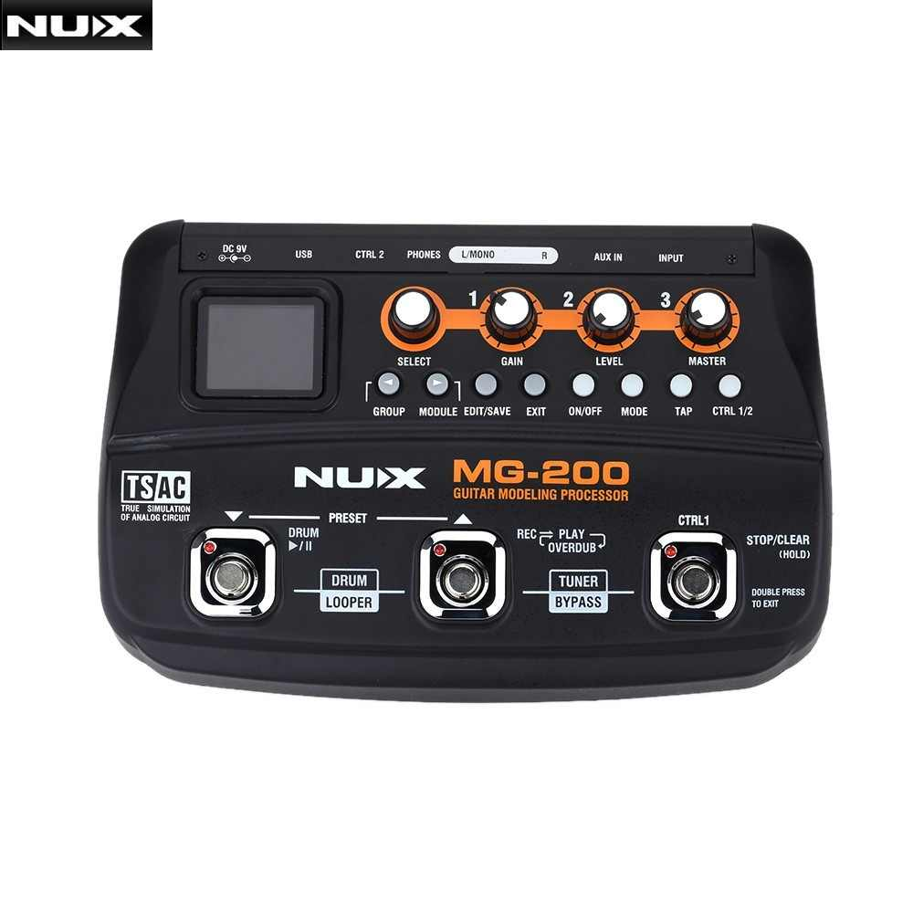 NUX MG-200 الغيتار النمذجة معالج الغيتار آثار متعددة المعالج مع 55 تأثير نماذج الاتحاد الأوروبي التوصيل أعلى جودة