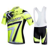 New Bicicleta Clothes Equipaciones Ciclismo Hombre 2017 Verano Short Sleeve Cycling Jerseys And Padded Cycling Bib
