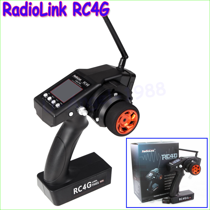 1set RadioLink RC4G 2 4G 4CH Gun Controller Transmitter R4EH G Gyro Inside Receiver for RC