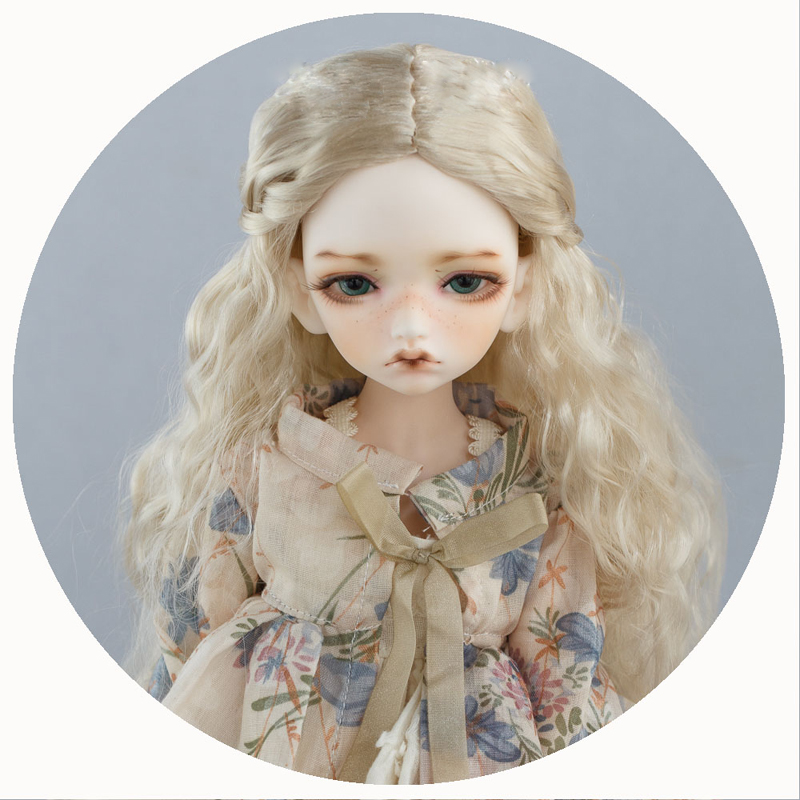 1/3 1/4 1/6 1/8 BJD Wig Super Doll Wig Fashion Long Blonde Mohair Wavy For BJD Doll Wig Hair long wavy hand tied lace front synthetic hair grape purple cosplay party wig