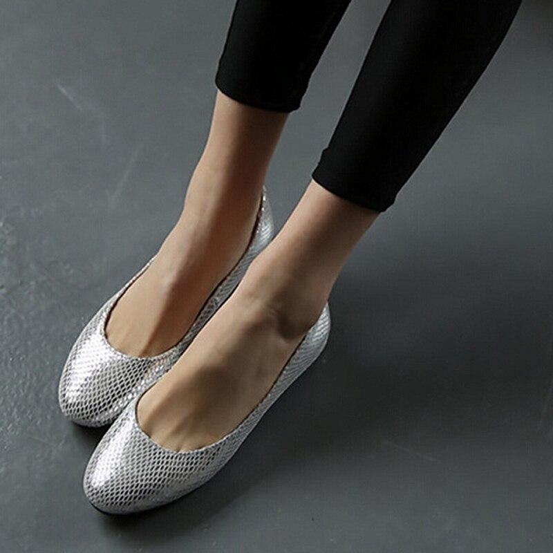 Новинка весны Slip-on круглый носок с открытым носком Повседневное Модные женские мокасины без шнурков плюс Размеры Оксфорд плоские туфли для ...