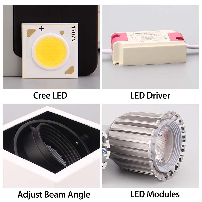 luzes de teto led unico ponto lampadas 04