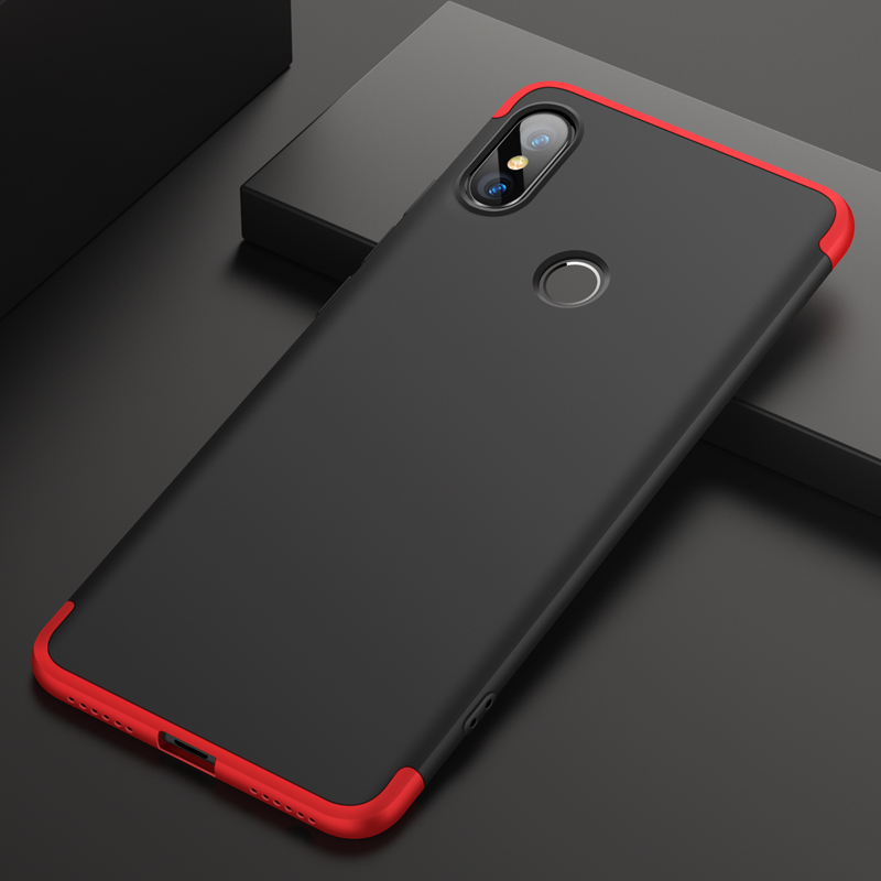 Phone Cases For Xiaomi mi 6X 2A Case 360 Full Protective 3 in 1 Matte Hard PC Shockproof Cover For Xiaomi mi 2A Cases in Half wrapped Cases from Cellphones Telecommunications