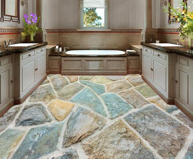 D sala da pranzo pavimento di piastrelle di ceramica sfondo