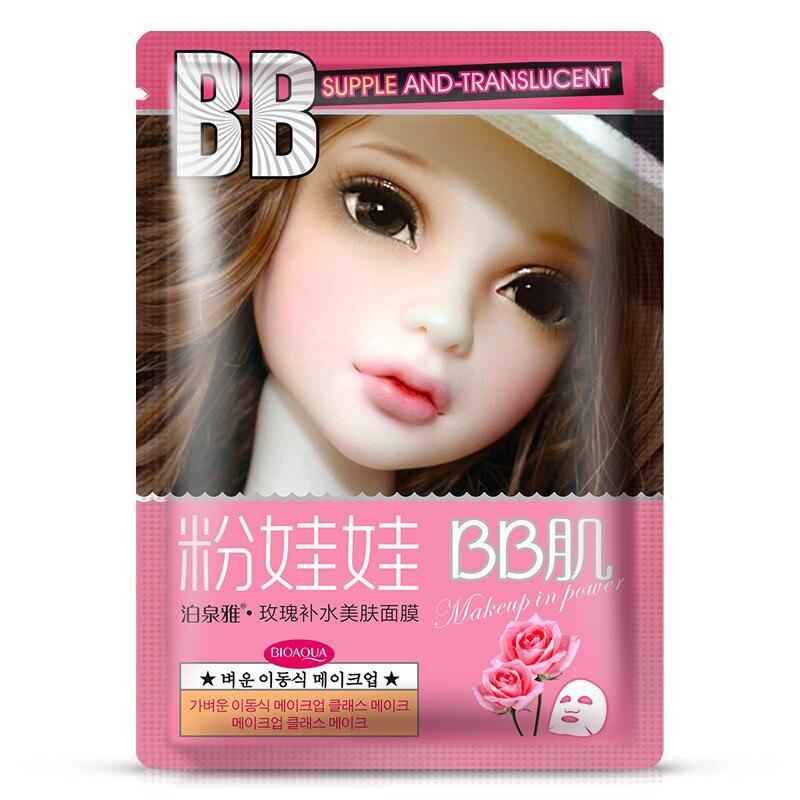 Skin Care 60pcs Hanchan Milk Facial Mask Moisturizing Whitening Facial Masks Shrink Pores Oil Control Brighten Mask Face Korea Skin Care Durable In Use Beauty & Health