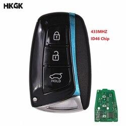 3 przyciski nowy wymiana inteligentny zdalny klucz i 433 MHz i ID46 układu dla HYUNDAI 95440-2W600 Santa Fe IX45