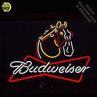Cavalo Clydesdale Budweise Sinal de Néon Sinal lâmpada de néon luzes de néon Sinal Tubo de vidro Artesanato Icônico Neon Lâmpadas luzes Profissionais|Lâmpadas de néon e tubos| |  -