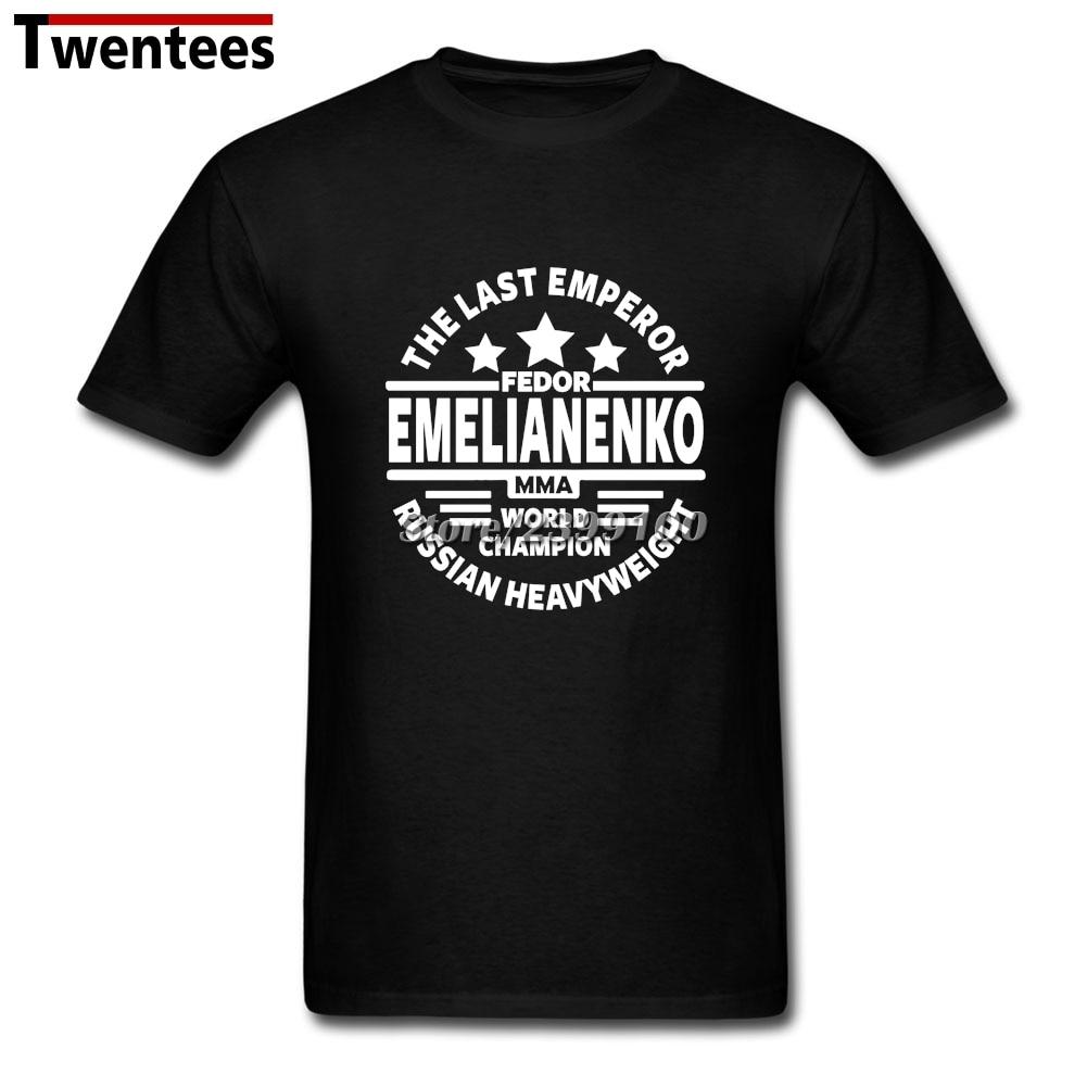 MMA Fedor Emelianenko T Shirt Men Screen Printing Short Sleeve Cotton Custom 3XL Group Tee Shirts