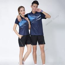 Adsmoeny Men Women Polyester Sport Jerseys Table Tennis Clothing shirt Short Sleeved Shirt Jersey Badminton Tennis Training Suit