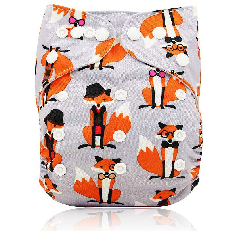 Ohbabyka, детские тканевые подгузники, многоразовые подгузники, унисекс, детские штаны для ухода за ребенком, водонепроницаемые тканевые подгузники с карманами, детские подарки для душа - Цвет: OB102