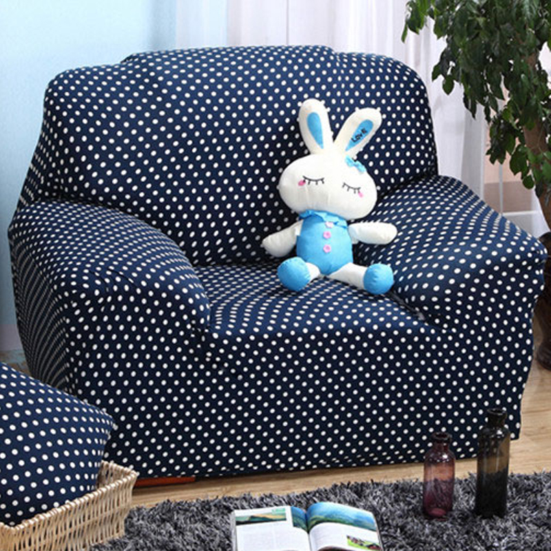 Sofa Covers White Dot Printed Furniture Covers Navy Blue Couch Slipcovers  Oversized Stretch Sectional Sofas Covers In Sofa Cover From Home U0026 Garden  On ...