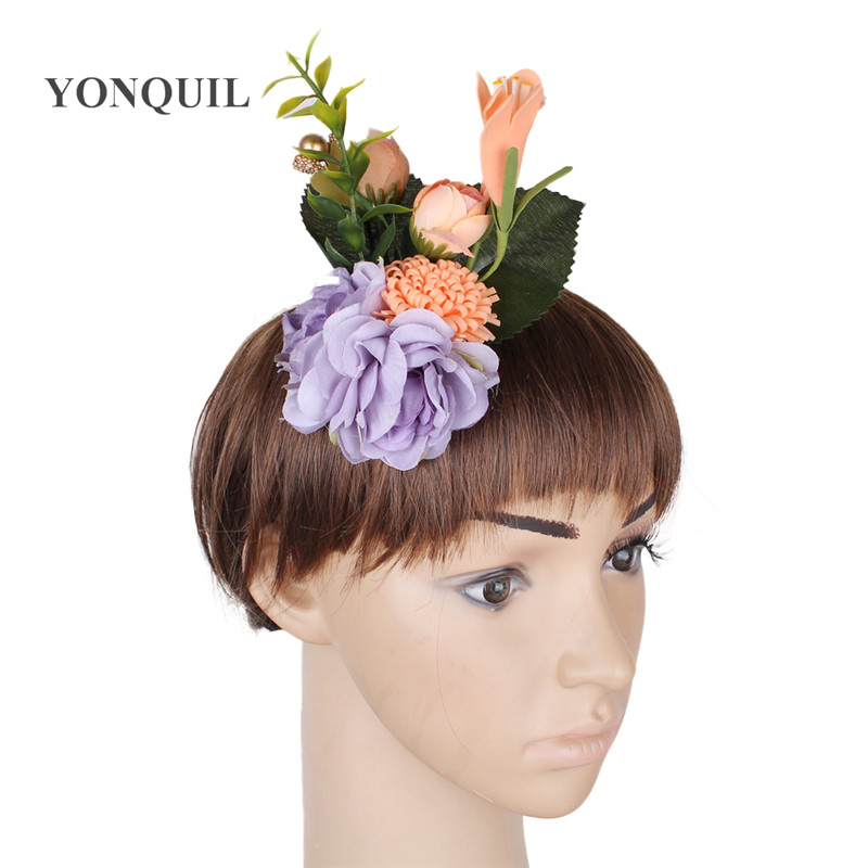 DIY artistic silk flower hawaii style colorful headwear brooches gril Wedding decoration hairpin diy hair accessories hair clips