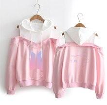 BTS Love Yourself Off-Shoulder Hoodies #2 (6 Colors)