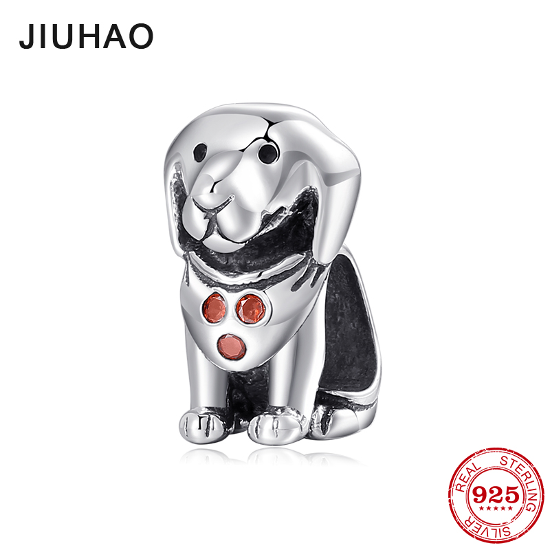 Really 925 Sterling Silver Lovely Puppy Bead Fit Pandora Charms Original Bracelet Dog Animal DIY Jewelry Making New 2018 strollgirl car keys 100% sterling silver charm beads fit pandora charms silver 925 original bracelet pendant diy jewelry making