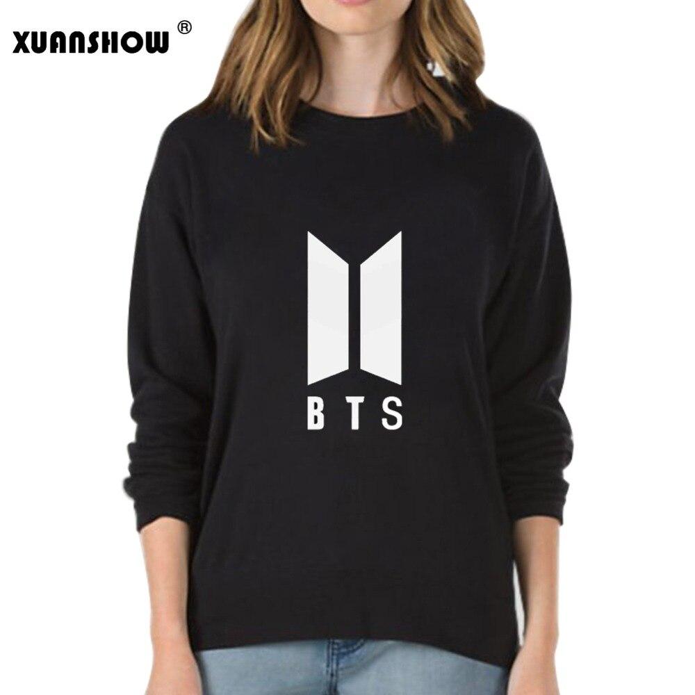 XUANSHOW 2018 Herbst Winter Sweatshirt Kleidung BTS Bangtan Boys Kpop Liebe Selbst Antwort Buchstaben Gedruckt Pullover Tops Moletom