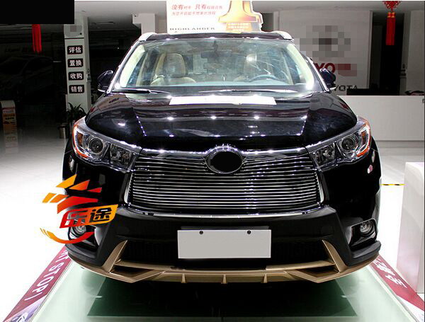 Free shipping 1pcs High quality stainless steel Front Grille Around Trim Racing Grills Trim For 2015 toyota Highlander stainless steel car racing grills for mazda cx 5 2013 2016 front grill grille cover trim car styling