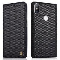 100% Genuine Case For Xiaomi MI 6X Flip Leather cover case protective case for Xiaomi MI A2 back housing Original funda coque