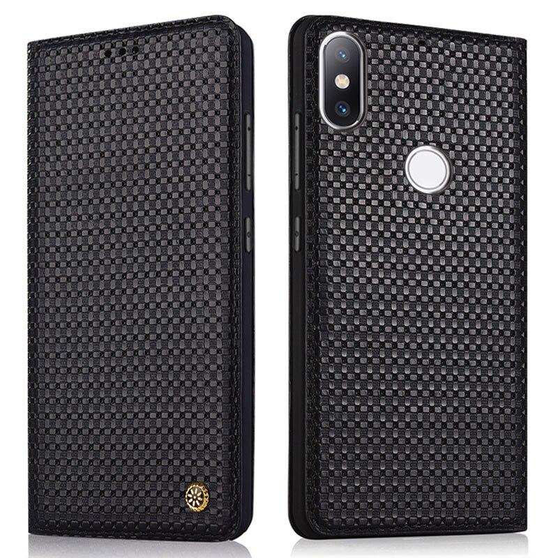 100% Véritable Cas Pour Xiaomi MI 6X Flip En Cuir de couverture de cas étui de protection pour Xiaomi MI A2 retour logement Original funda coque