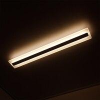 Долго образный потолочный светильник современный минималистский светодиодный спальня потолочный светильник исследование лампы гостиной