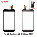 "Original 4.3"" Touch Screen digitizer For LG Optimus L7 2 II Dual P715 Glass Panel Replacement Black and White+Tools"