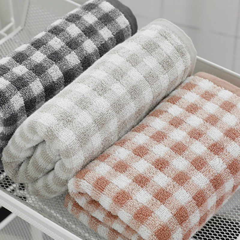 Bath Towels For Adults Japanese Style Simple Cotton Thickening Couple Sports Absorbent Towel Dark Gray
