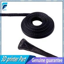5 Metre 6mm/8mm/10mm Dia Genişletilebilir Örgülü PET Prim Kablo Kollu Siyah Sertifikası ROHS 3D Yazıcı Aksesuarları