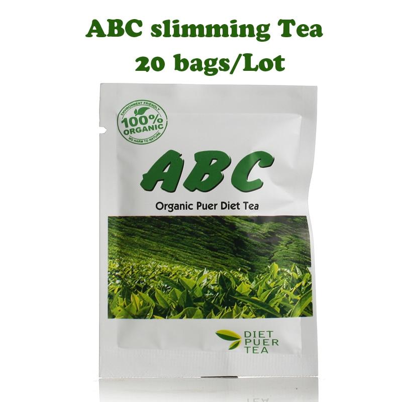 (20 bags/Lot) ABC slimming tea Pu'erh herb diet tea fast weight loss burning fat 100g lemon verbena vervain tea herb weight loss slimming decrease adipose slim tea natural tea free shipping