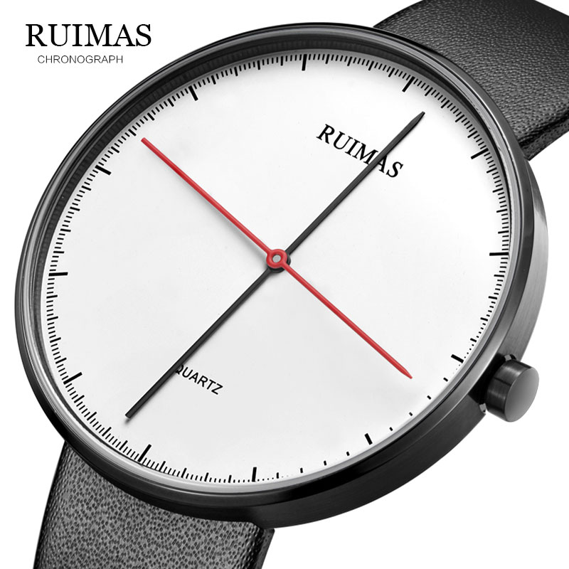 RUIMAS New Fashion Sports Mens Watches Top Brand Luxury Waterproof Simple Ultra-Thin Watch Men Quartz Clock Relogio Masculino