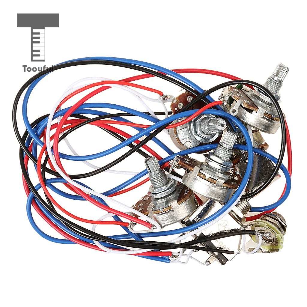 1set Wiring Harness 3 Way Toggle Switch 2v2t 500k Pots Jack Les Paul Tooyful Replacement Of Circuit 2v2t1j Copper Bush For