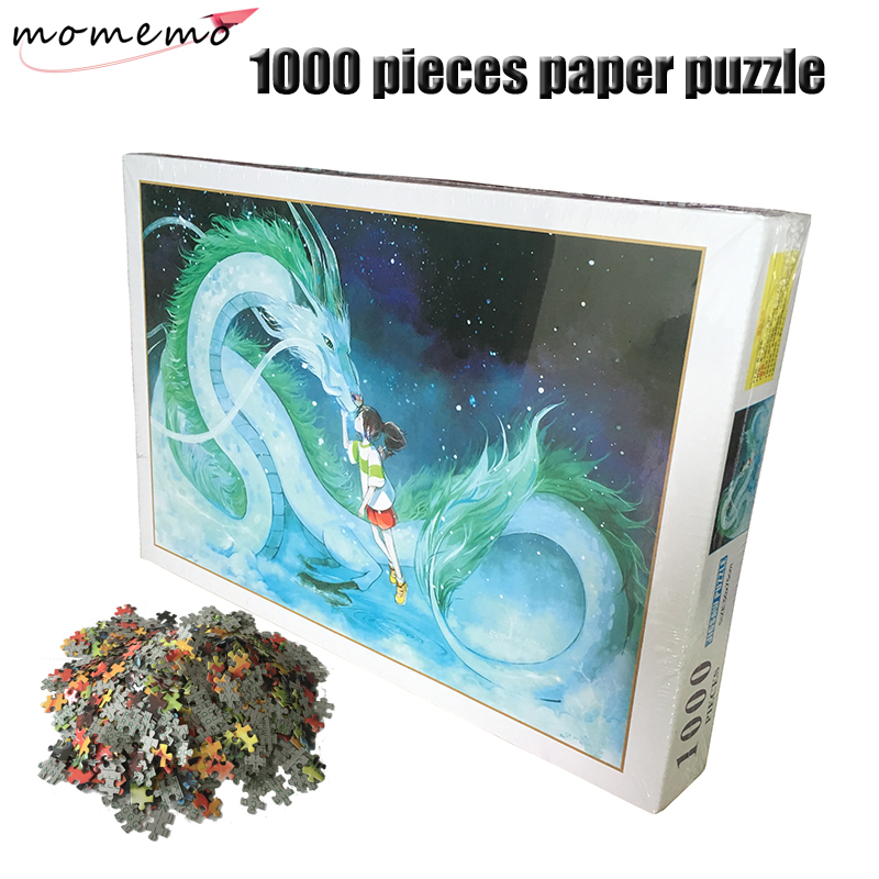 MOMEMO Spirited Away Puzzles 1000 Pieces Adult Paper Puzzle Jigsaw Puzzle Assembling Puzzles 1000 Pieces Toys with Box PackingMOMEMO Spirited Away Puzzles 1000 Pieces Adult Paper Puzzle Jigsaw Puzzle Assembling Puzzles 1000 Pieces Toys with Box Packing