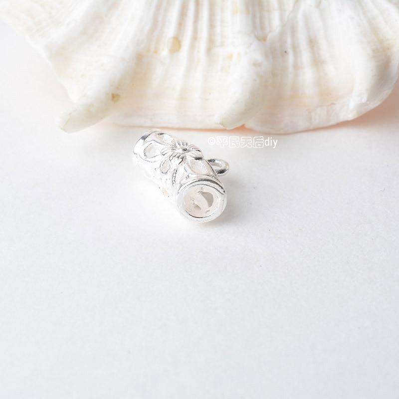 纯银吊环镂空花纹弯管 (4)