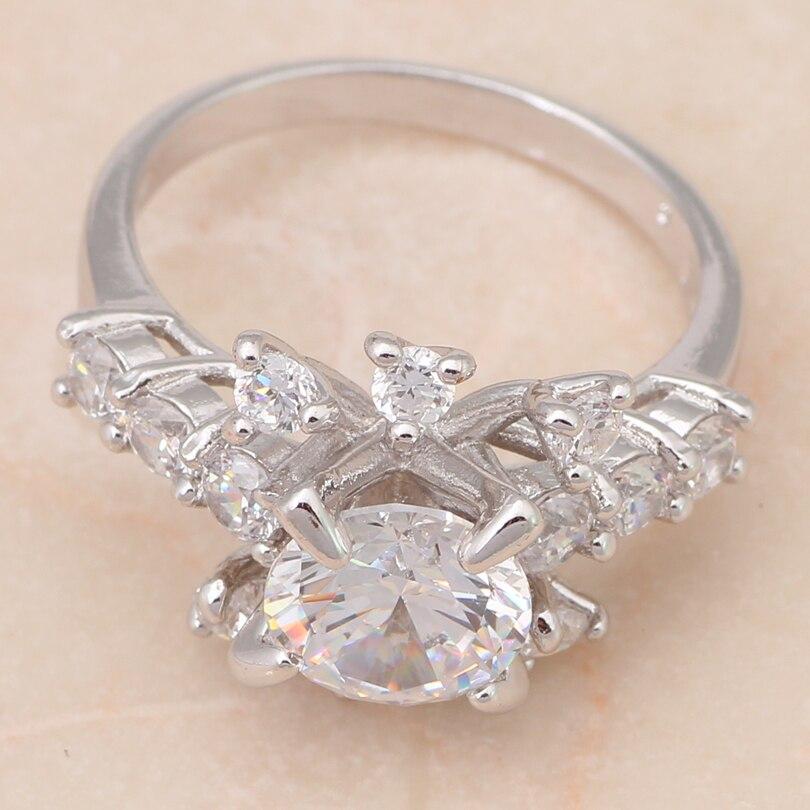 ROLILASON design Gorgeous really Shining Silver plated Fashion Jewelry Crystal women Rings USA sz #5.5#6.75 JR1751