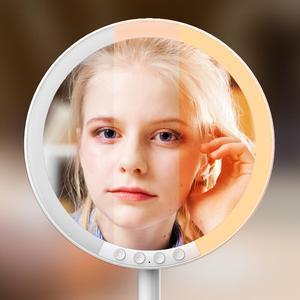 Image 5 - Specchio per il trucco cosmetico con 66 Luci A LED 2000mah Ricaricabile, 180 Gradi di Rotazione, 1x 10x Lente di Ingrandimento con il Basamento e Da Viaggio Specchio