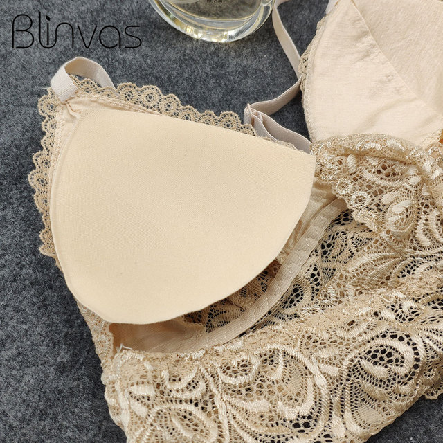 Blinvas Bra Wireless Bras for Women Lingerie BH Lace Sexy Bralette Push Up Bra Plus Size Y-line Straps Backless Bras Large Size 5