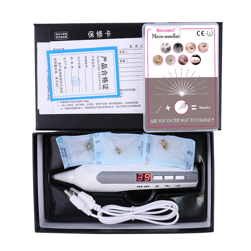 9 Levels Laser Tattoo Freckles Freckle Removal Scan Dark Spots LCD Monitor Charge Plasma Pen Anti-aging Beauty Skin Care Tools