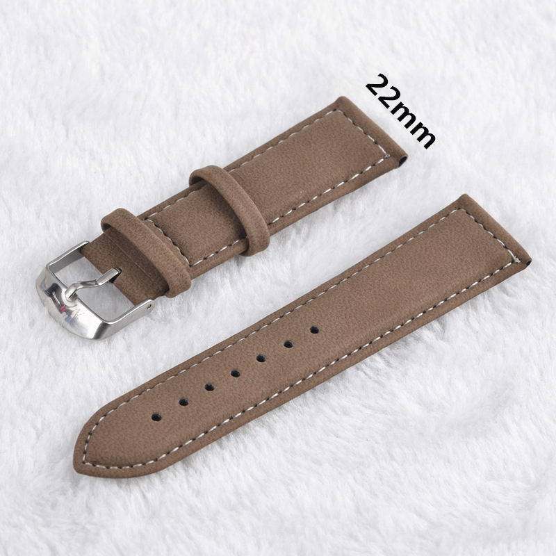 Leather Watchband Ogya Brand Fashion Popular Clock Band 22mm And 20mm  For Watch High Quality