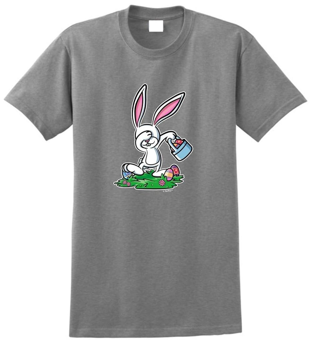 Make T Shirts Regular Dabbing Easter Bunny  Crew Neck Short Sleeve Mens Tee Shirt