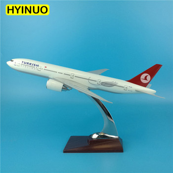 32CM 1:200 Boeing B777 model Turkish Turkey airline with base alloy aircraft plane collectible display toy collection decoration