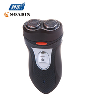 JINDING Double Headed Rotary Electric Shaver For Men Shaving Black Shaving Machine Rechargeable Face Care Beard