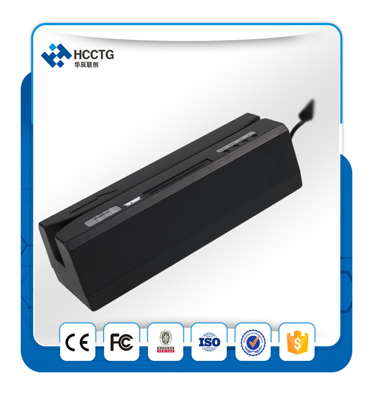 Lecteur de carte à bande magnétique USB et lecteur de carte à puce RFID. IC 13.56 MHz avec lecteur de carte à puce RFID HCC80