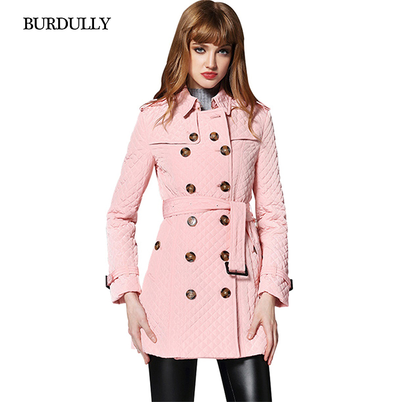BURDULLY Autumn 2017 New Long Parkas Female Women Winter Coat Cotton Warm Outwear Double Breasted Parka Coat Large Size Casaco