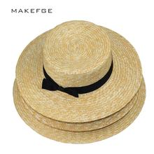 summer hats for women Flat Top Straw beach hat Panama Hat summer for women straw hat snapback