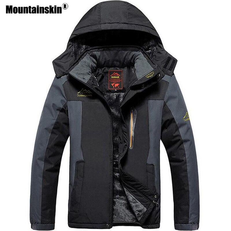 Mountainskin 男性の冬ジャケット暖かい厚みの防水コート内側フリース熱カジュアルなアウターウェアプラスサイズ 8XL 9XL SA572  グループ上の メンズ服 からの ジャケット の中 1