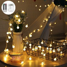 CHIZAO LED Crystal Battery String Lights Fairy Holiday Lighting Full Colors Glow for Christmas Wedding Creative Design wreath