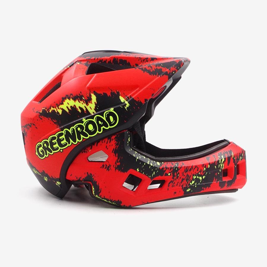 Adult 52-56cm OFF-ROAD mountain fullface bicycle Helmet Classic bike MTB DH racing helmet downhill cycling helmet Casco Racing