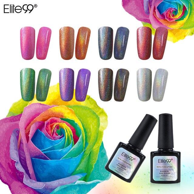 Elite99 12 piezas larga duración colorido Arco Iris UV Gel esmalte ...