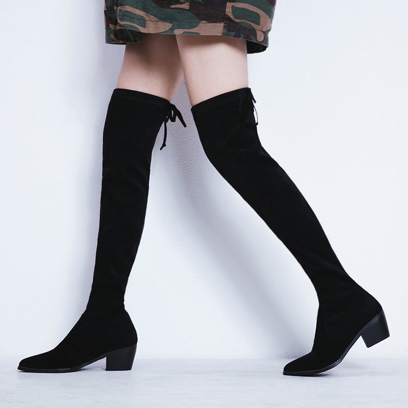 women's over the knee boots winter shoes women winter boots bottes d hiver pour femmes botines mujer bottine femme laarzen цены онлайн
