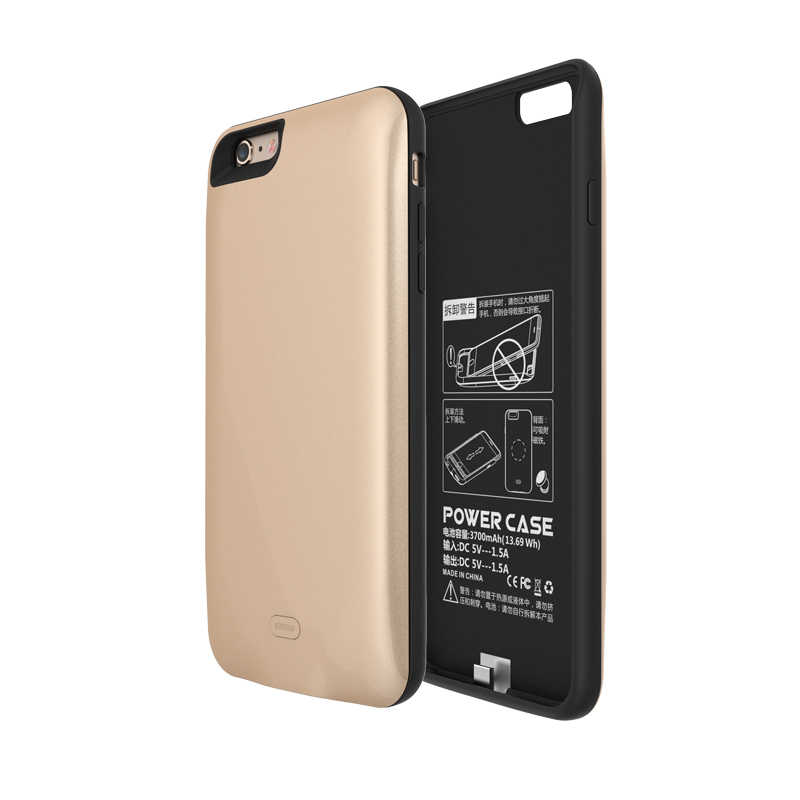 """imágenes para GagaKing 7500 mah banco de la energía para el iphone 6 más caso del cargador de batería para El Iphone 6 s plus cargador inalámbrico para 5.5 """"pulgadas 6/6 s Plus"""